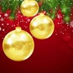 Christmas Greetings Postcard. — Stock Vector