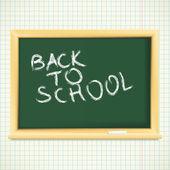 School blackboard background. — Stock Vector