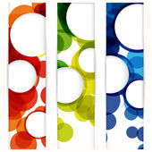Abstract vertical banner with forms of empty frames for your www — Stock Vector