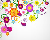 Gift festive card. Floral design background. — Stock Vector