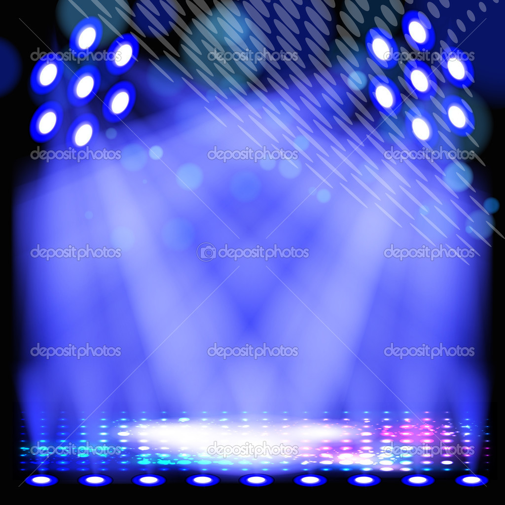 Blue spotlight background with light show effects.  Stok Vektr #6366741