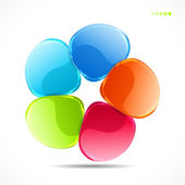 Abstract colorful glass shape background — ストックベクタ