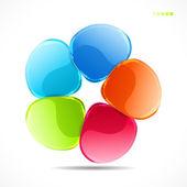 Fond forme abstraite de verre coloré — Vecteur