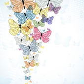 Abstarct background with colorfull butterfly. Vector. — Stock Vector