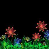 Fleurs fantaisie — Vecteur