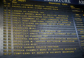 Departure board. — Stock Photo