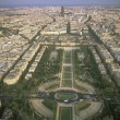 View on Paris from the Eiffel Tower. — Stock Photo