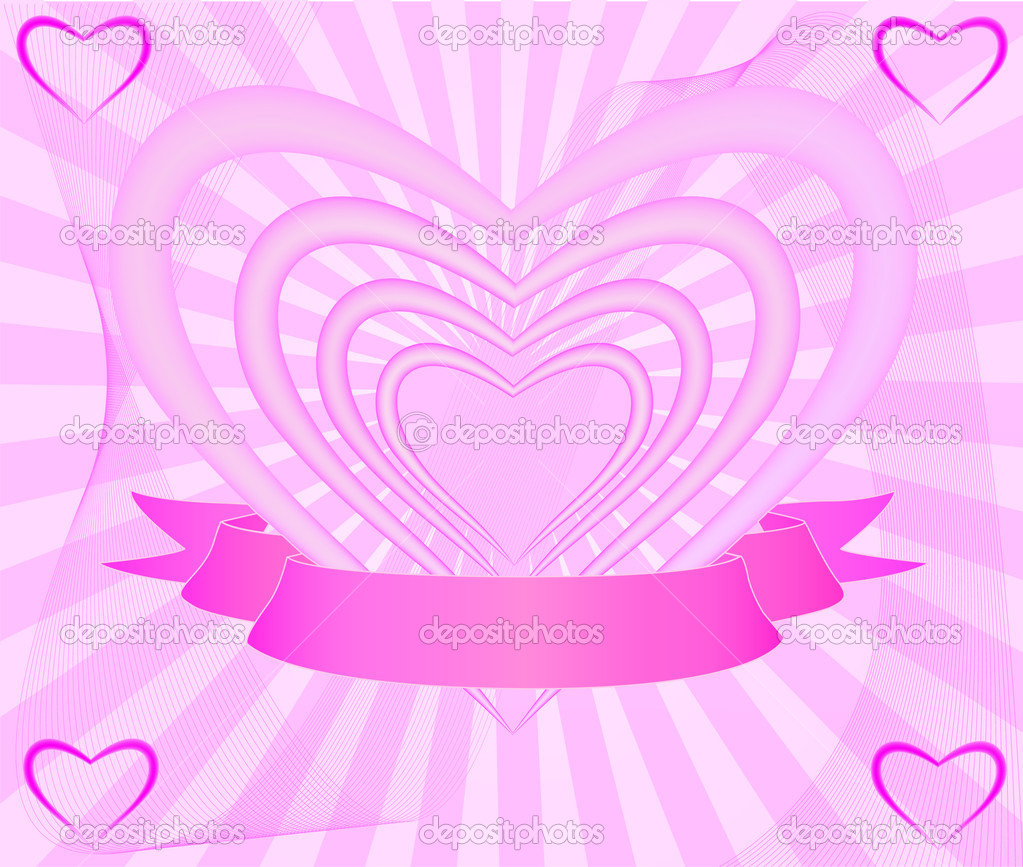 Pink  heart background  — Stock Vector #5457967