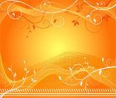 Futuristic orange background — Stock Vector