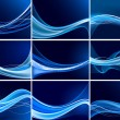 Abstract background vector set — Stockvektor