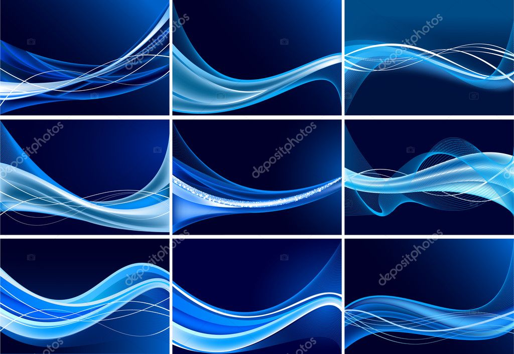 Abstract background vector set — Stock Vector #5690800