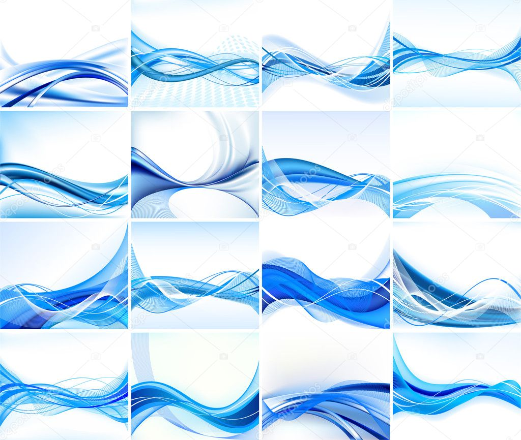 Abstract background vector set — Stockvectorbeeld #5690808