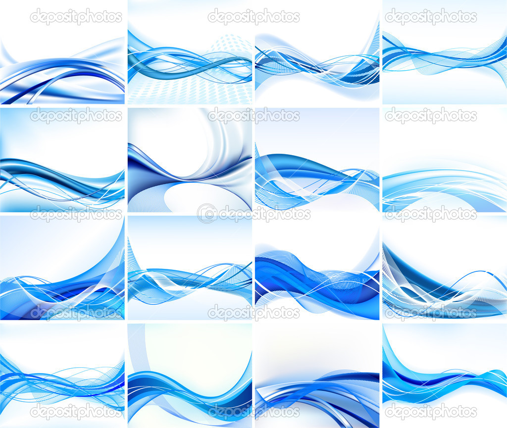 Abstract background vector set — Image vectorielle #5690808