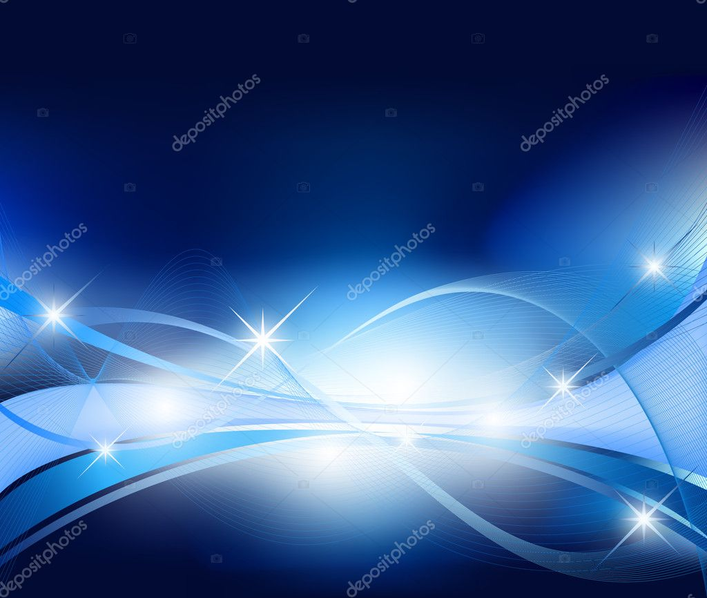 Abstract background in blue vector — Stock Vector #5691077