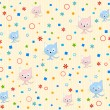 Cat pattern background vector - Stock Vector