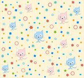 Cat pattern background vector — Stock Vector