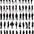 Royalty-Free Stock Imagen vectorial: Sexy woman silhouettes - vector