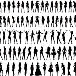 silhouette donna sexy - vettoriale — Vettoriale Stock