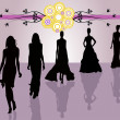 Fashion silhouettes vector — Stock Vector