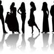 Fashion silhouettes vector — Vector de stock #5957619