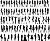 Sexy vrouw silhouetten - vector — Stockvector