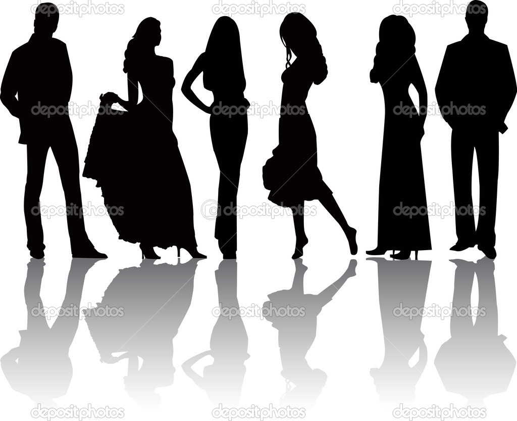 Fashion  silhouettes vector   Stock Vector #5957619