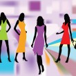Fashion silhouettes vector — Stock Vector #6043793