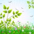 Floral background vector - Stock Vector