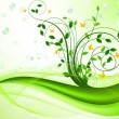 图库矢量图片: Floral background vector