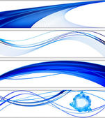 Abstract website banner vector set — Stock Vector