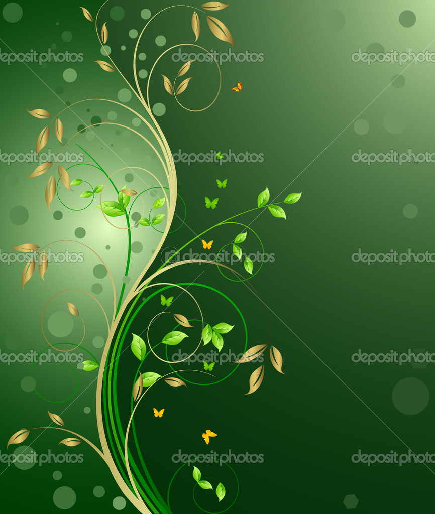Floral background vector — Stock Vector #6425616