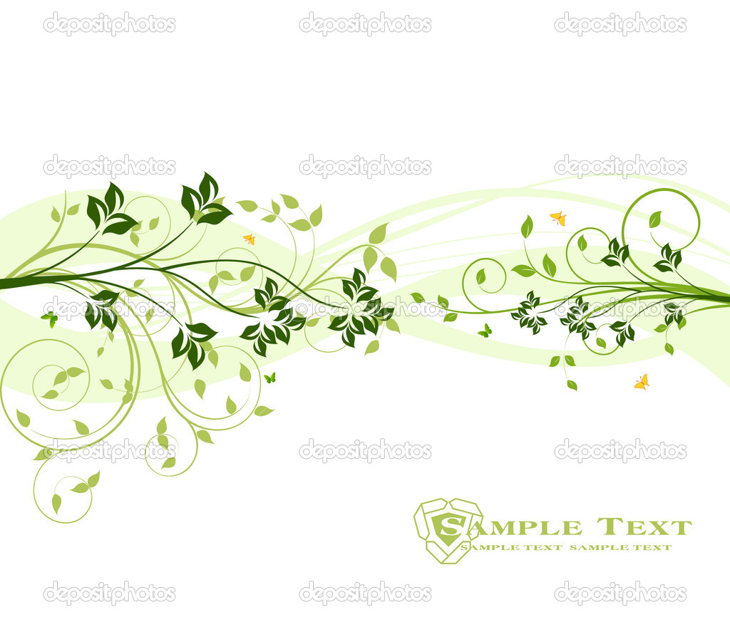 Floral vector background — Stock Vector #6425640