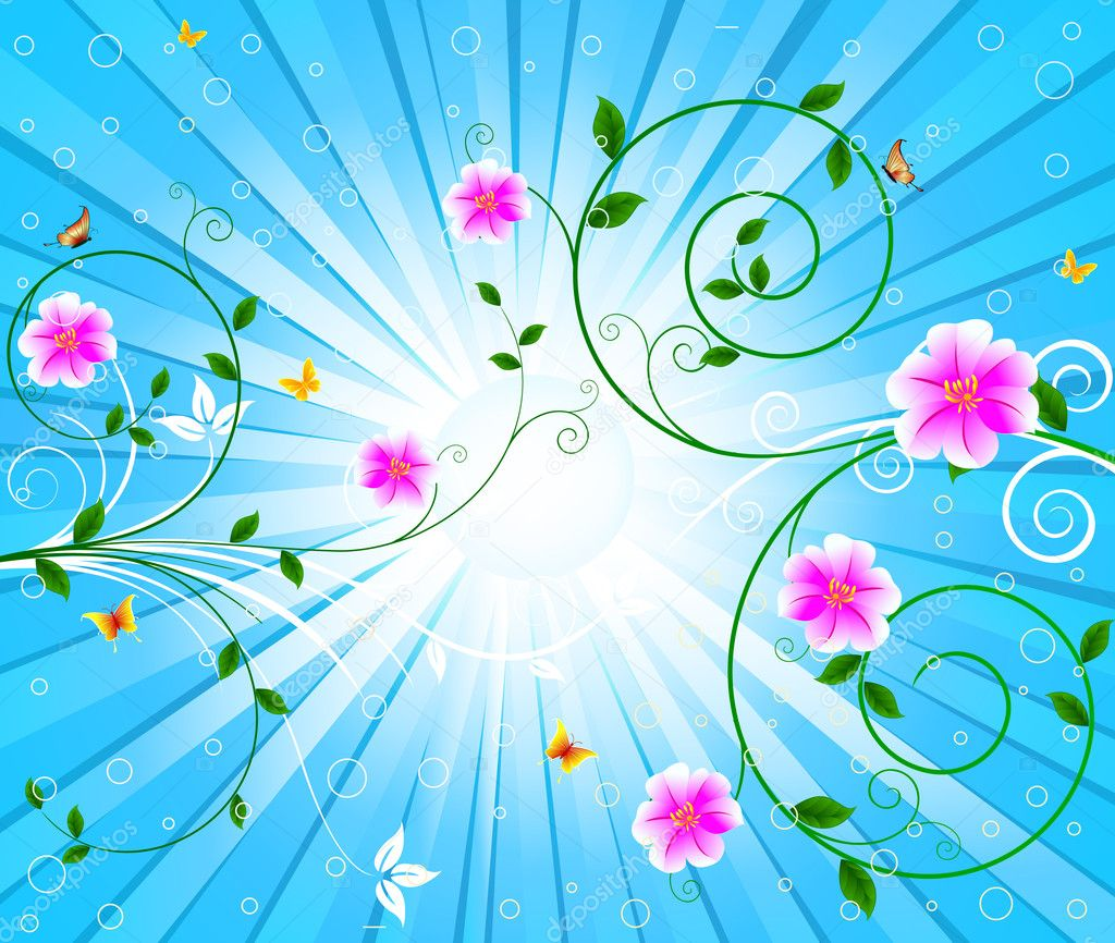 Floral vector background  Stock Vector #6455664