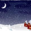 Winter magic night, vector — Stock Vector #6488565