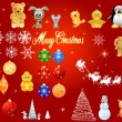 Royalty-Free Stock 矢量图片: Christmas design elements, vector