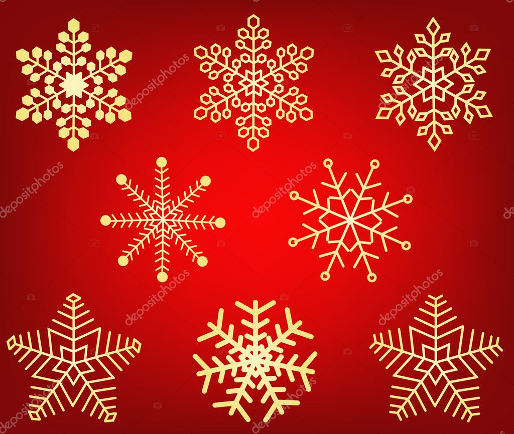 Snowflakes - vector   Stock Vector #6510331