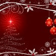 Christmas vector background - Vettoriali Stock