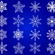 Snowflakes - vector - Stockvectorbeeld