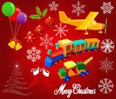 Christmas design elements, vector — Stock Vector