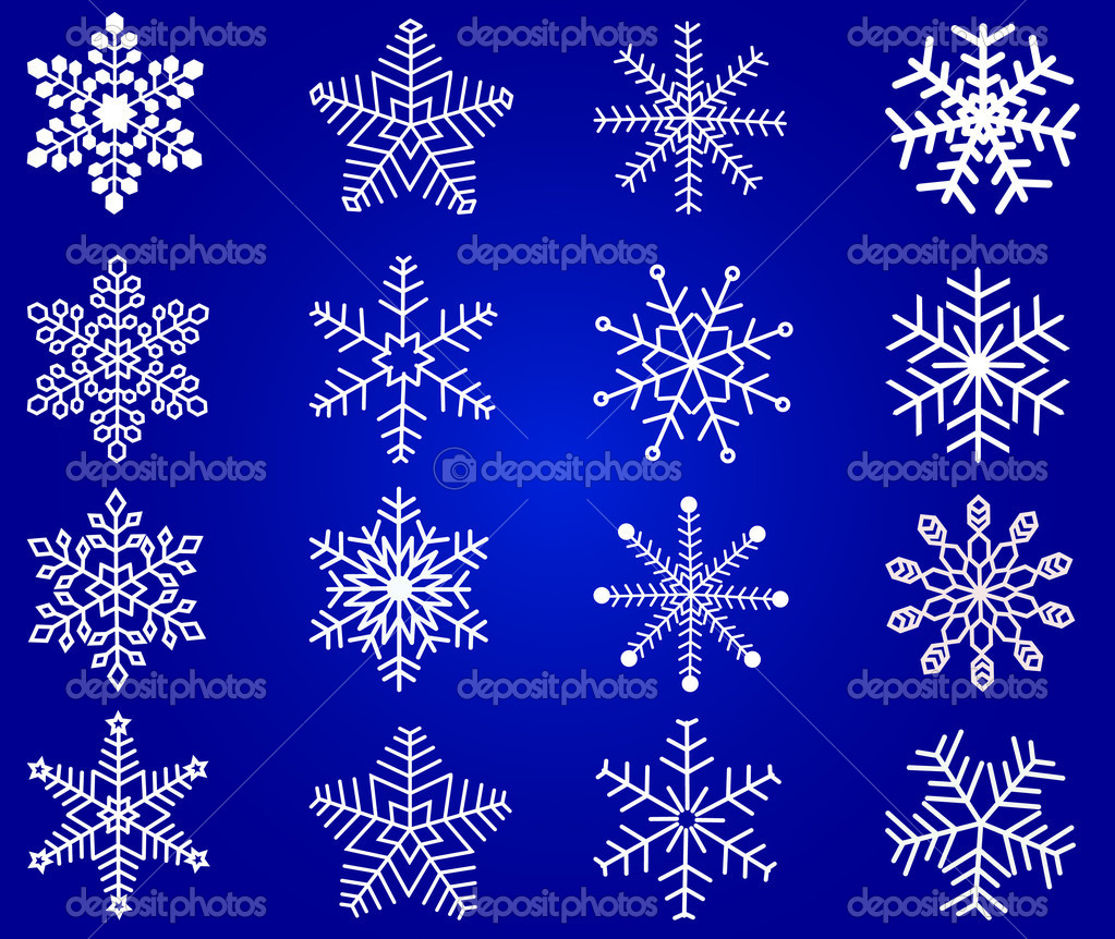 Snowflakes - vector  Stock Vector #6581678