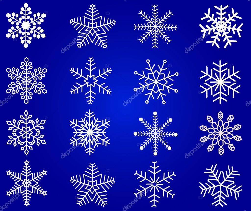 Snowflakes - vector — Stockvectorbeeld #6581678
