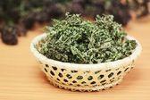 Dried herbs wild thyme and oregano — Stock Photo
