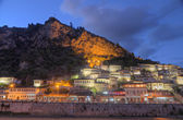 City of Berat in Albania at night — Stockfoto