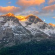 Mountain range at sunset — Stock Photo