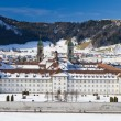 Cloister Einsiedeln in winter, Switzerland — Foto de Stock