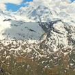 Mountain panorama view with glacier and Matterhorn — Stock Photo
