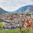 Panorama of historic city center  in Chur, Switzerland — Stock Photo
