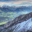 Alpine mountain panorama, Switzerland — Stock Photo