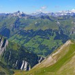 Mountain panorama from Segnas pass, Switzerland — Stock Photo