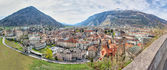 Panorama of historic city center in Chur, Switzerland — Foto de Stock